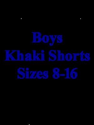 Boys Pants Pleated Khaki 8-16