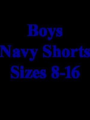 Boys Pants Pleated Navy 8-16