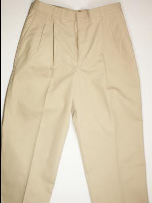 Boys Pants Pleated Khaki 25-50