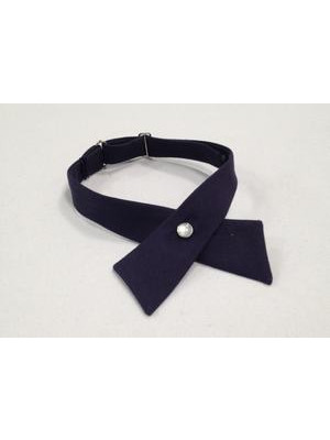 Girls Cross Tie - navy